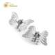 Wholesale fancy girls hair accessories custom logo metal butterfly hair claw clip for women