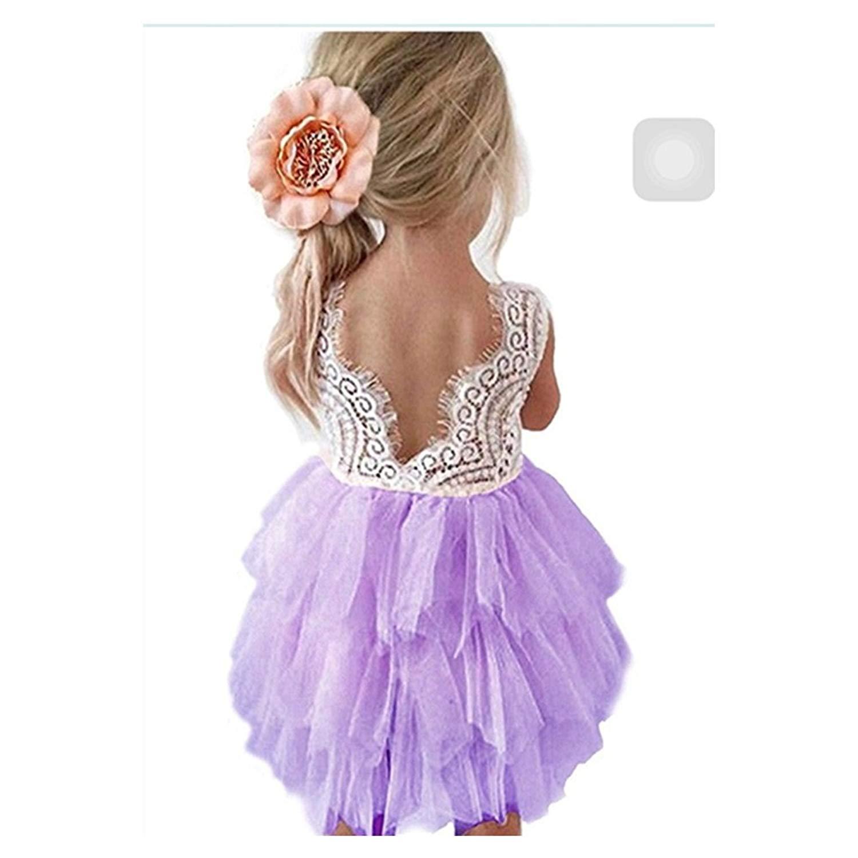 Toddler Girls Princess Dress Infant Sleeveless Tulle Dress Inkach Baby Dresses