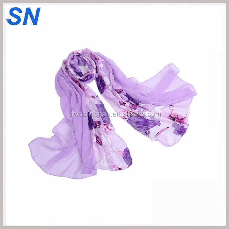 custom digital print silk scarves printed Shawls Manufacturer