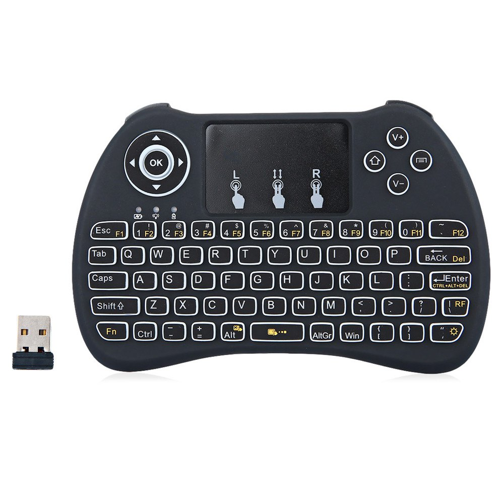 H9 Hand-held Wireless Keyboard QWERTY Remote Controller Fly Air Mouse Combo for Smart <strong>TV</strong> <strong>Android</strong> <strong>TV</strong> <strong>Box</strong> Tablet PC Desktop Laptop