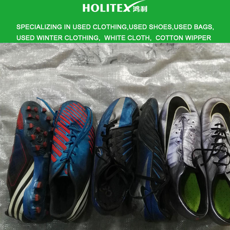 From Guangdong China warehouse second hand clothes and bags and wholesale used football shoes