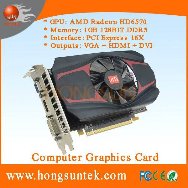 AMD Radeon HD 6570 1GB DDR5 PCI-Express 2.1 Video Gaming Graphics Card