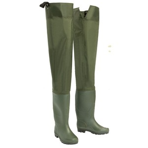 Plus size chest wader Breathable rubber thigh waders