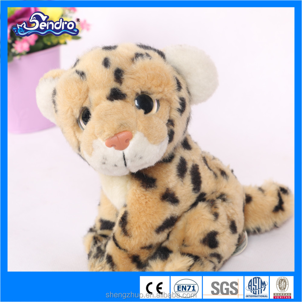 My Cute Eueope Standard CE certificate Plush Stuffed Animal Soft Toy Leopard