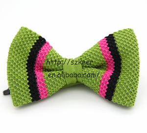 high-end silk knitted black bowtie,bow tie