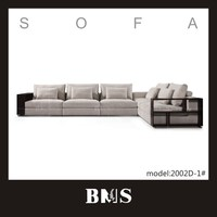 Living room Extra large sectional sofa with chaise /wooden arms