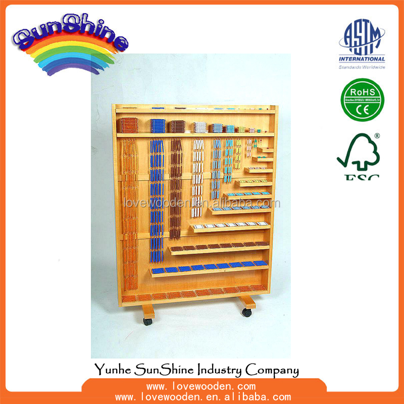 2016 Educational <strong>toy</strong> Complete Bead Material with Rack (Bead Dia-0.7cm) Montessori , montessori mathematics