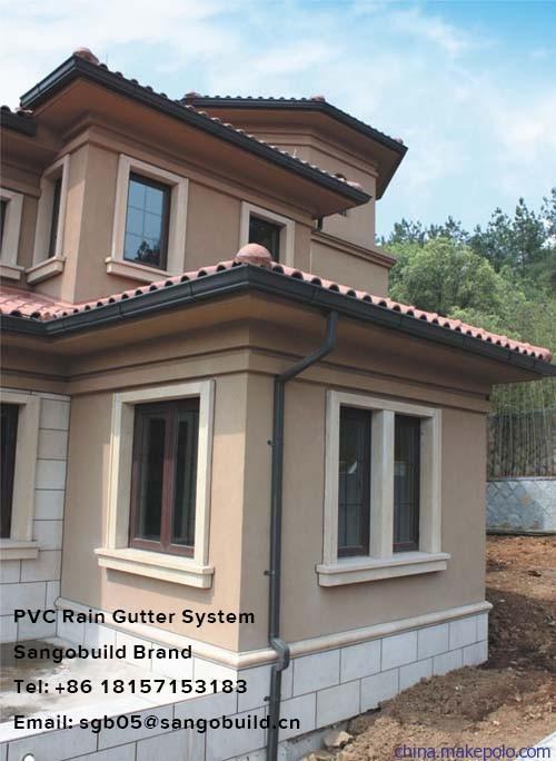 Pvc Rain Gutter System Hangers Elbows Downspout Diverter Rainwater Gutter In Kenya