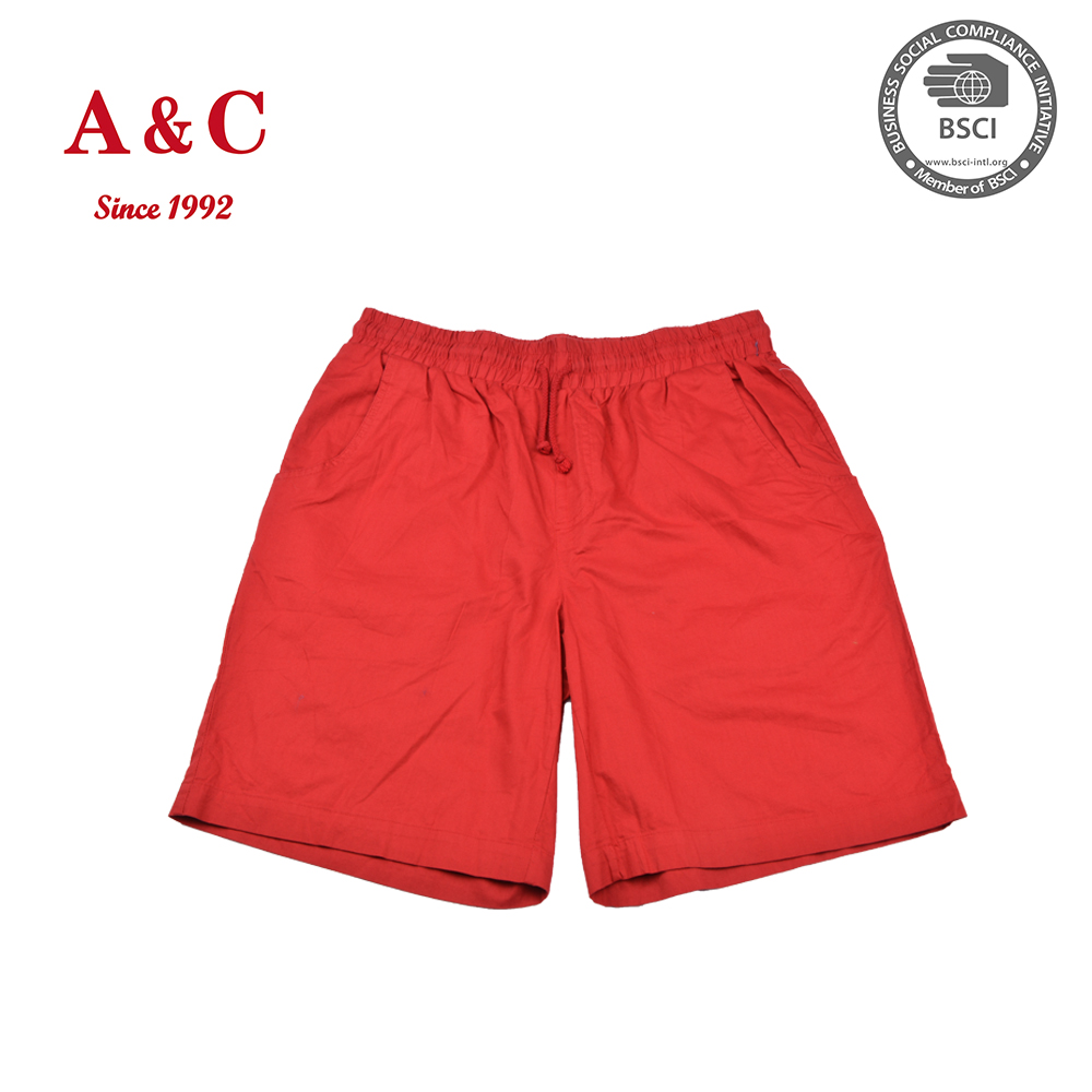 Pure Color Mens Linen Bermuda Shorts