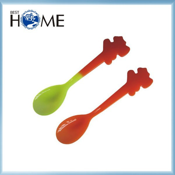 FDA Approval Animal Shape Ice Cream Plastic Color Changing Spoon