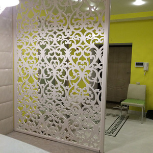 Indoor Decoration Metal Steel Screen Partition Cheap Laser Cut Room Divider