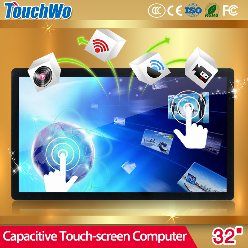 Promotional multifunction 32' capacitive touch screen monitor With Long-term Technical Support
