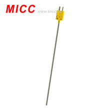 MICC SS316 sheathed 0.5mm*150mm probe with OMEGA mini plug K/J type thermocouple
