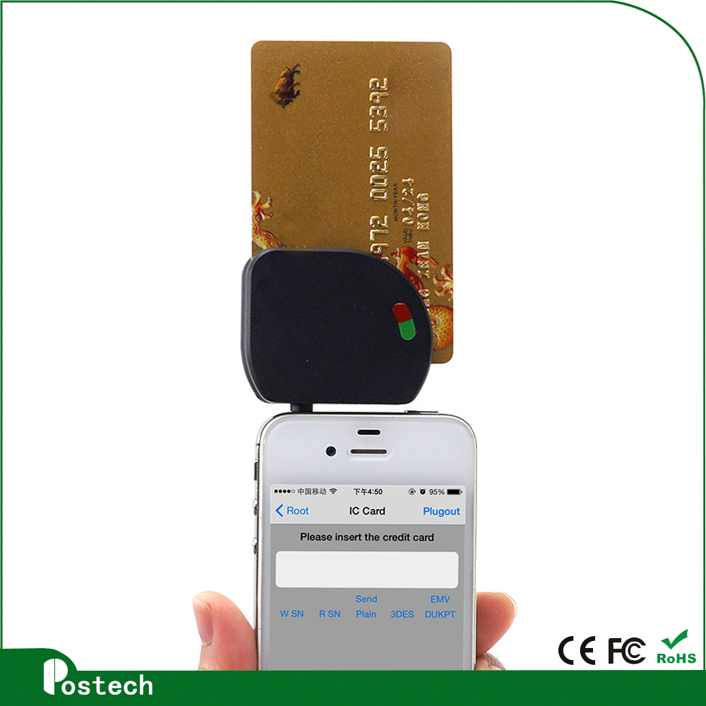 3.5mm audio jack Mobile Mate Smart Card Reader MCR02 for pos banking using solution