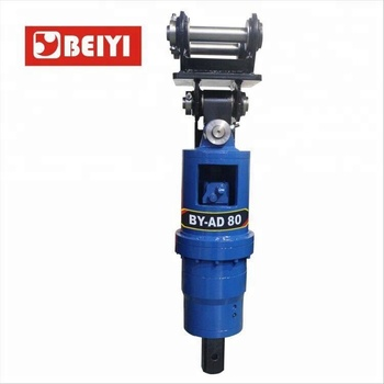 BEIYI Mini Excavator Mounted Hydraulic Powered Earth Auger Drill