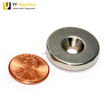 Pole Radial Ring Magnets with Countersunk Hole