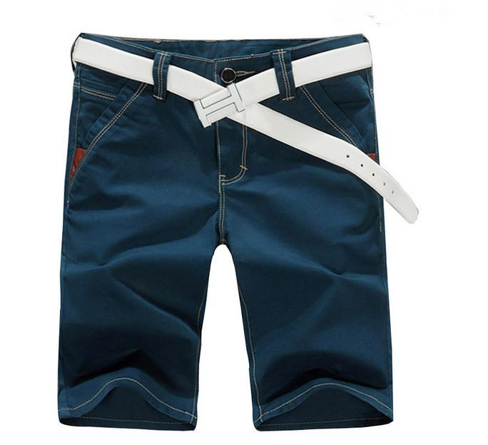 d841ba8577 Get Quotations · Men Fashion Shorts Large Size 28-40 Knee Length Summer  Slim Fit Trousers Brand Design