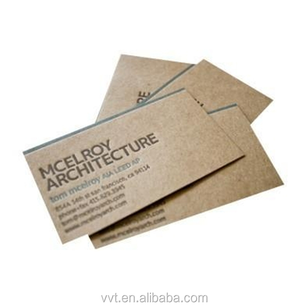 Personalizzato Riciclata Stampati Kraft Sacchetti Di Carta Biglietto Da Visita