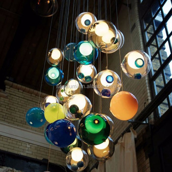 Glass Globes Pendant Lamps Globe Cluster Suspension Lamp Hand Blown Glass Pendant Lights Buy Glass Globes Pendant Lamp Globe Cluster Suspension