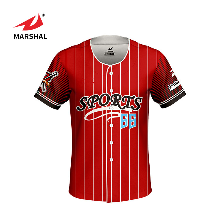 Sport custom design baseball jersey custom gesublimeerde shirt throwback honkbal jersey voor mannen