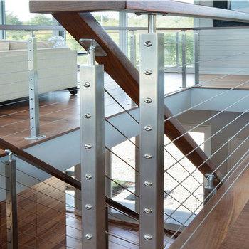 Beliebt Edelstahldrahtgeländer Mit Modernem Design / Handlauf Aus Holz GK26