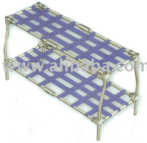 pliable double lit camping militaire de couchage d. Black Bedroom Furniture Sets. Home Design Ideas