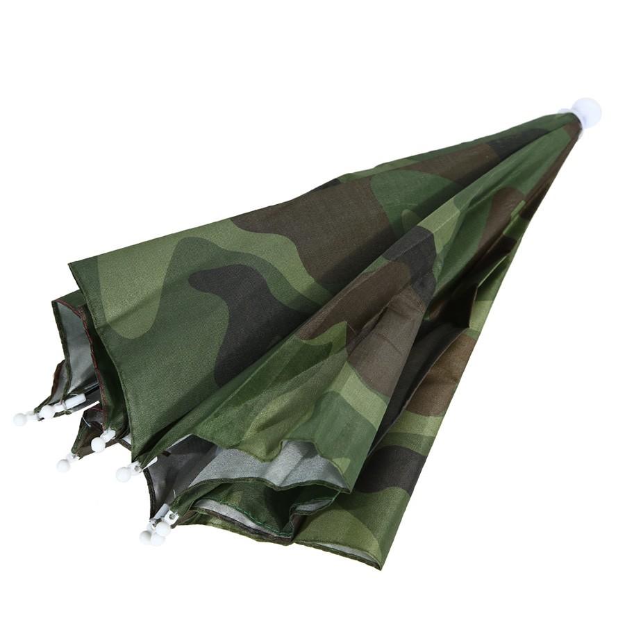 afa52fc4 ... FE# Portable 55cm Umbrella Hat Sun Shade Lightweight <font><b>Camping  ...