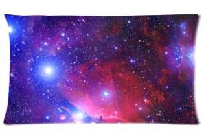 Funny Creative Space Nebula Universe Pattern Retro Galaxy Tribal Design Zippered pillowcase DIY Pillowslip Decorate Sofa Bed Pillow case cover 20x36 (Twin sides)