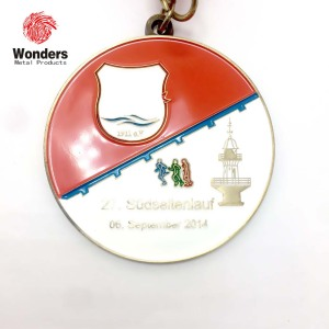 Custom wholesale memory stamping colorful metal medal for sale