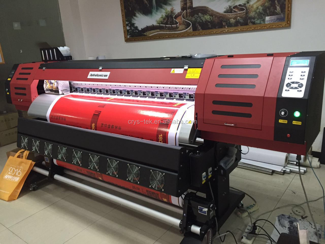 RT180 best eco solvent printer with DX5 printhead 1440DPI MT printer BYHX  THK inkjet printer