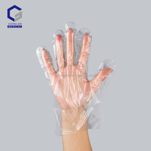 Wholesale top quality disposable sterile food usage CPE plastic glove