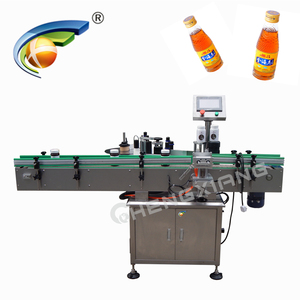 Highly accurate around fixed-point water bottle labeler