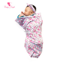 New Arrive High quality Cotton fashion pink floral Baby Swaddle blanket for NB baby