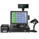 A complete set 15 inch touch screen POS system all in one pos machine