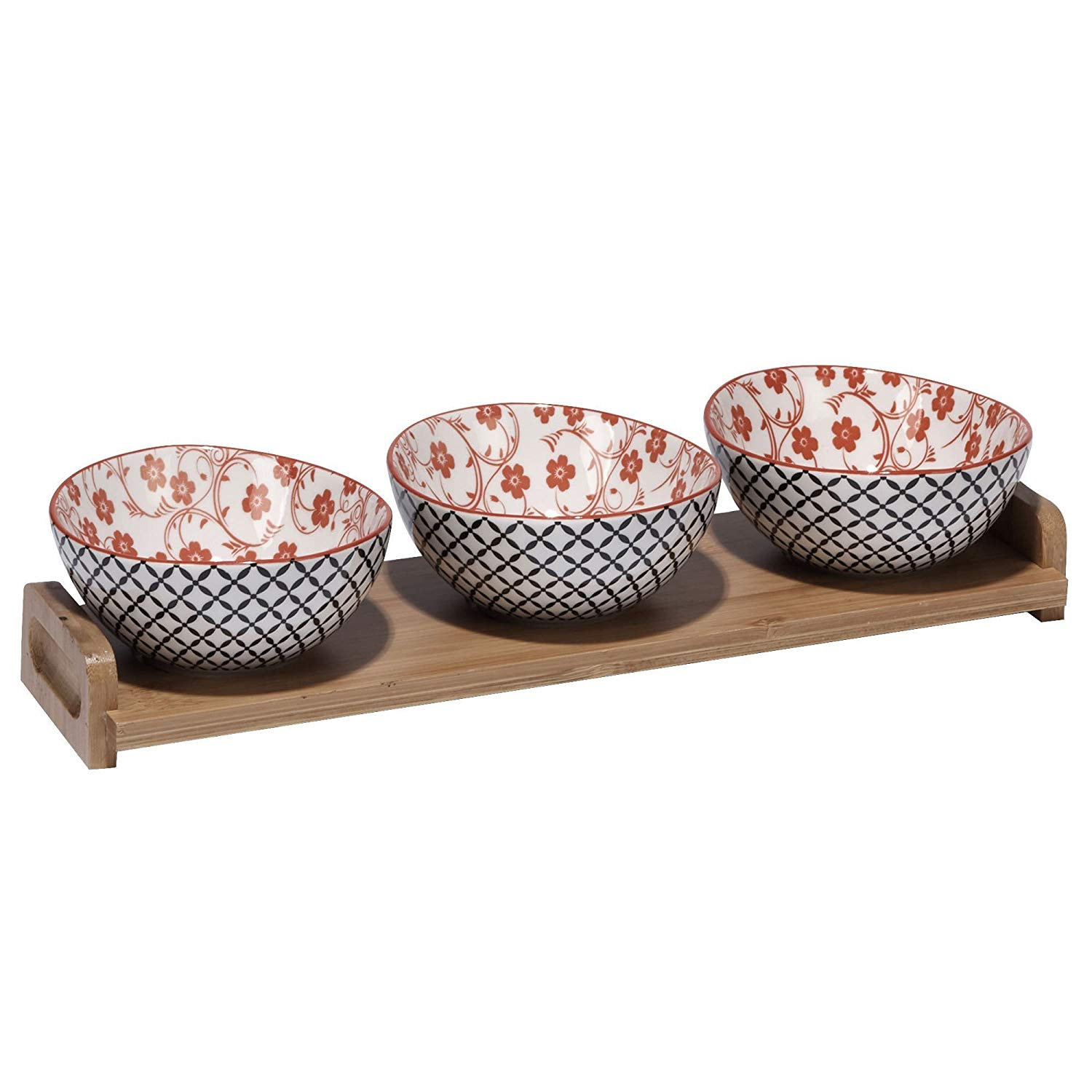 Decorative Serving Tray With Handles Vintage White Fleur De Lis 11 Inch Ceramic Cheese Snack Platter Platters Home Kitchen