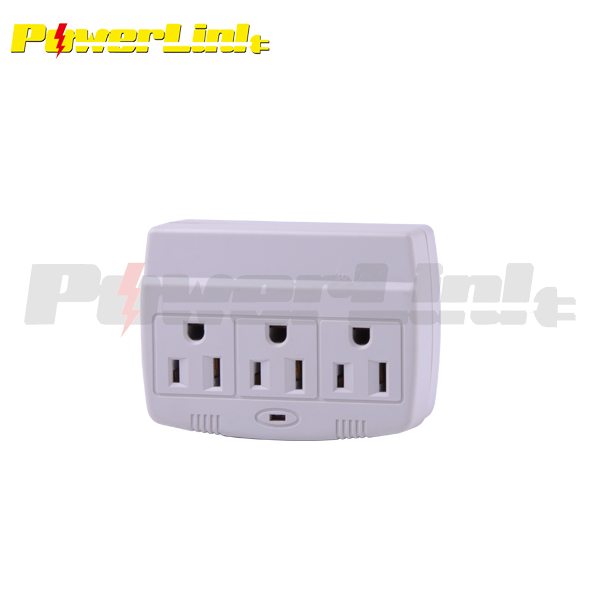 H70002 3 Way Electrical Outlet Wall Plug/ Power Strip,Etl Listed ...