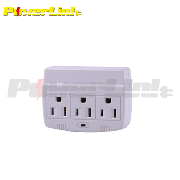 H70002 3 Way Electrical Outlet Wall Plug Strip Three Sockets Splitter
