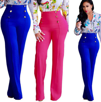 up-0716r Formal designs ladies trousers casual 5 colors women pants