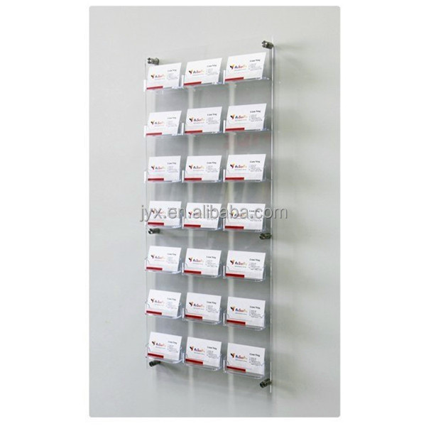 Clear Wall Mounted Acrylic Business Card Holder With Nails For Office Buy Wall Mounted Acrylic Business Card Holder Unique Business Card Holders For