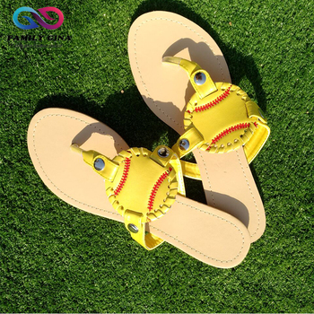 2b9793b2b299af Wholesale Personalized Monogrammed Baseball Sandals For Women