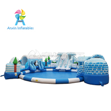Commercial grade cheap giant inflatable water park for sale , Kids water inflatable amusment park