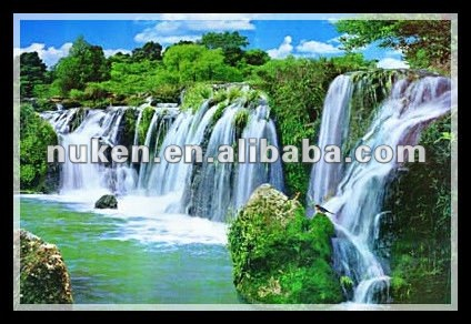 3D decorative pictures of forest scenery oil painting 3d hologram pictures