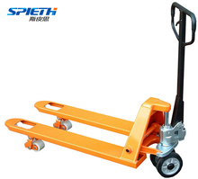 Hand operated hydraulic jack plastic pallet truck with wheel nylon