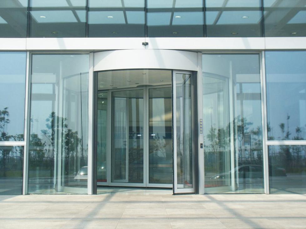 Mall Entrance Doors : Yekalon new design glass revolving door for hotel airport