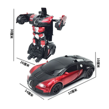 1:12 deformation electric toy stunt robot car