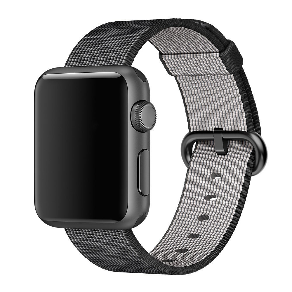 Watch Band, 42mm Apple iWatch Woven Nylon Fabric Replacement Strap Watch Bracelet Watchband Wrist Band for Apple iWatch (Black)