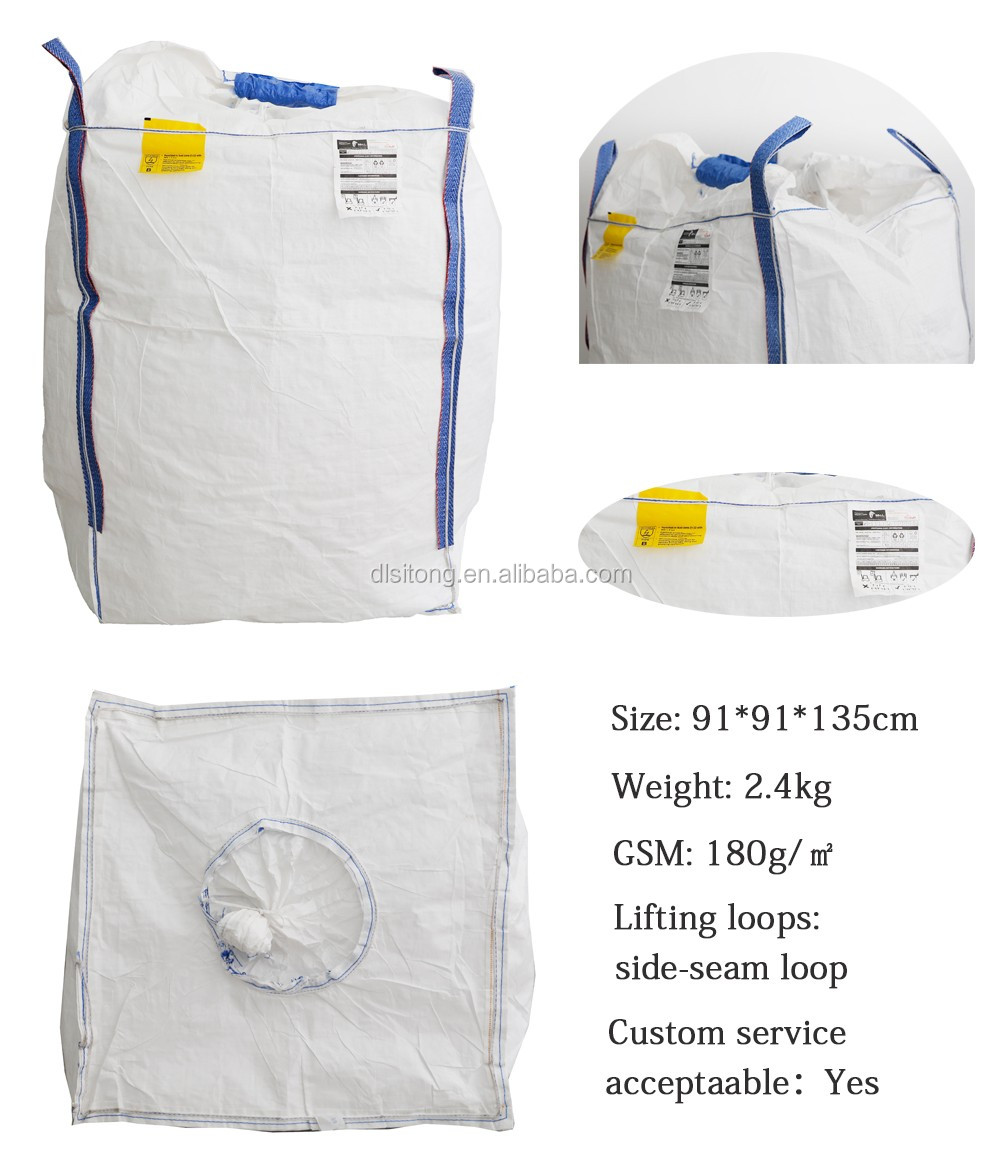 1 ton 1.5 ton 2 ton polypropylene /pp fibc jumbo big bag /sack for cement, sand, grain,coal, Industrial construction garbage