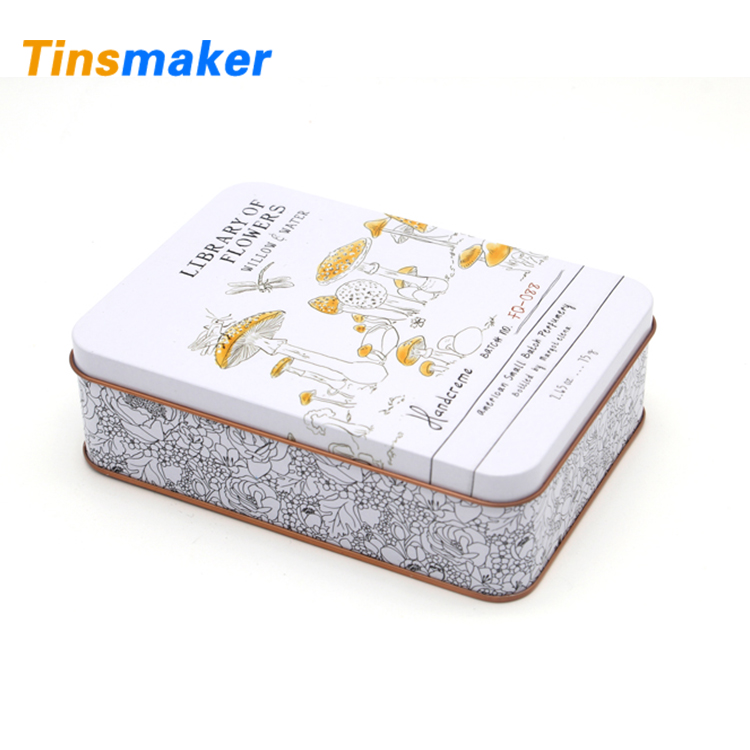 Personalized wholesale rectangular empty christmas tins for cookie