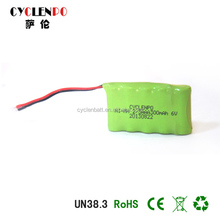 high performance nimh 300mah low price 6v Ni - mh 2 / 3A AA lamp battery