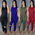 Fashion Sleeveless Trousers Summer Jumpsuits For Tall Women